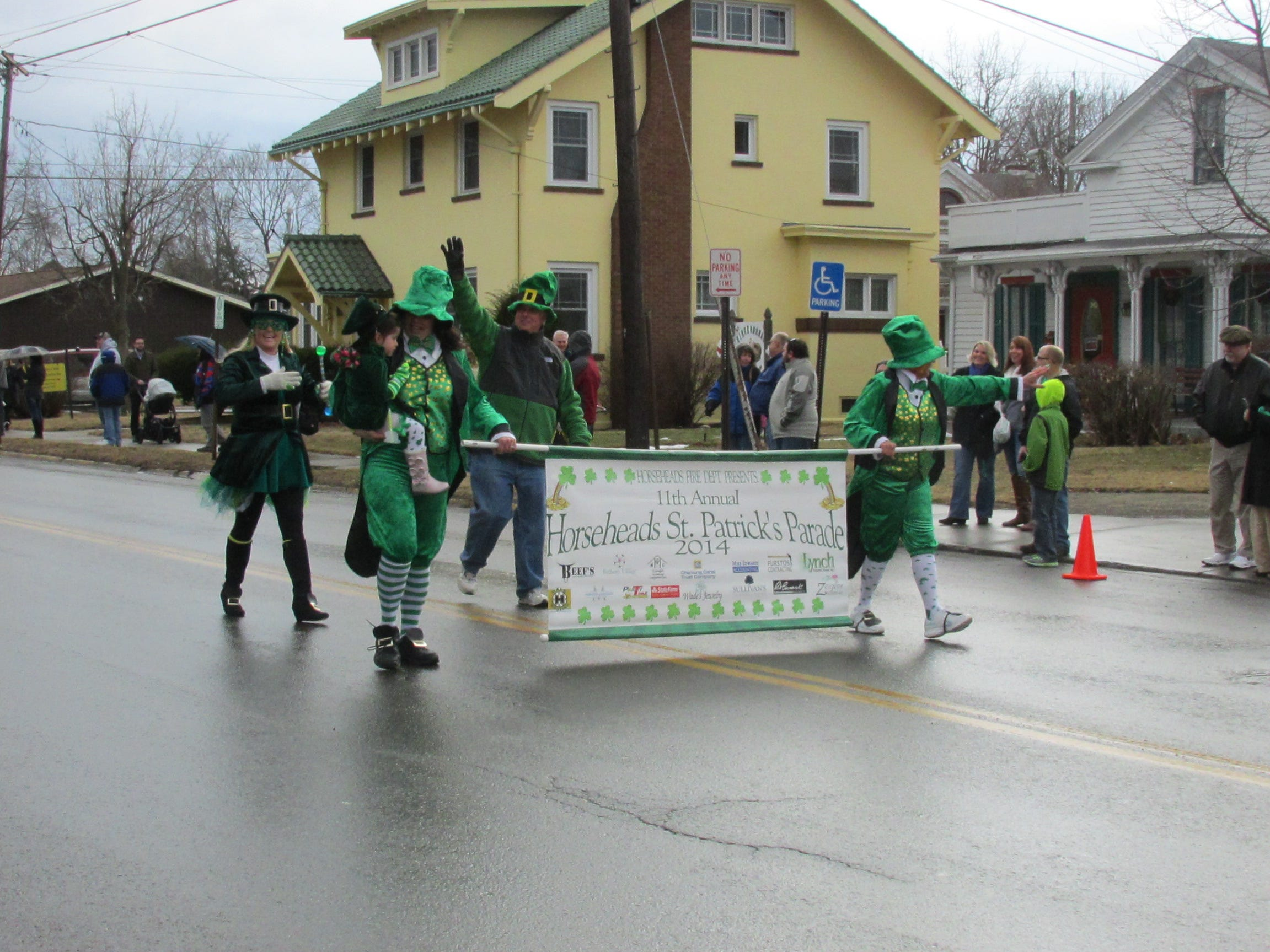2013: A group of leprechauns lead the 11th annual St. PatrickÕs Day parade Saturday in Horseheads.