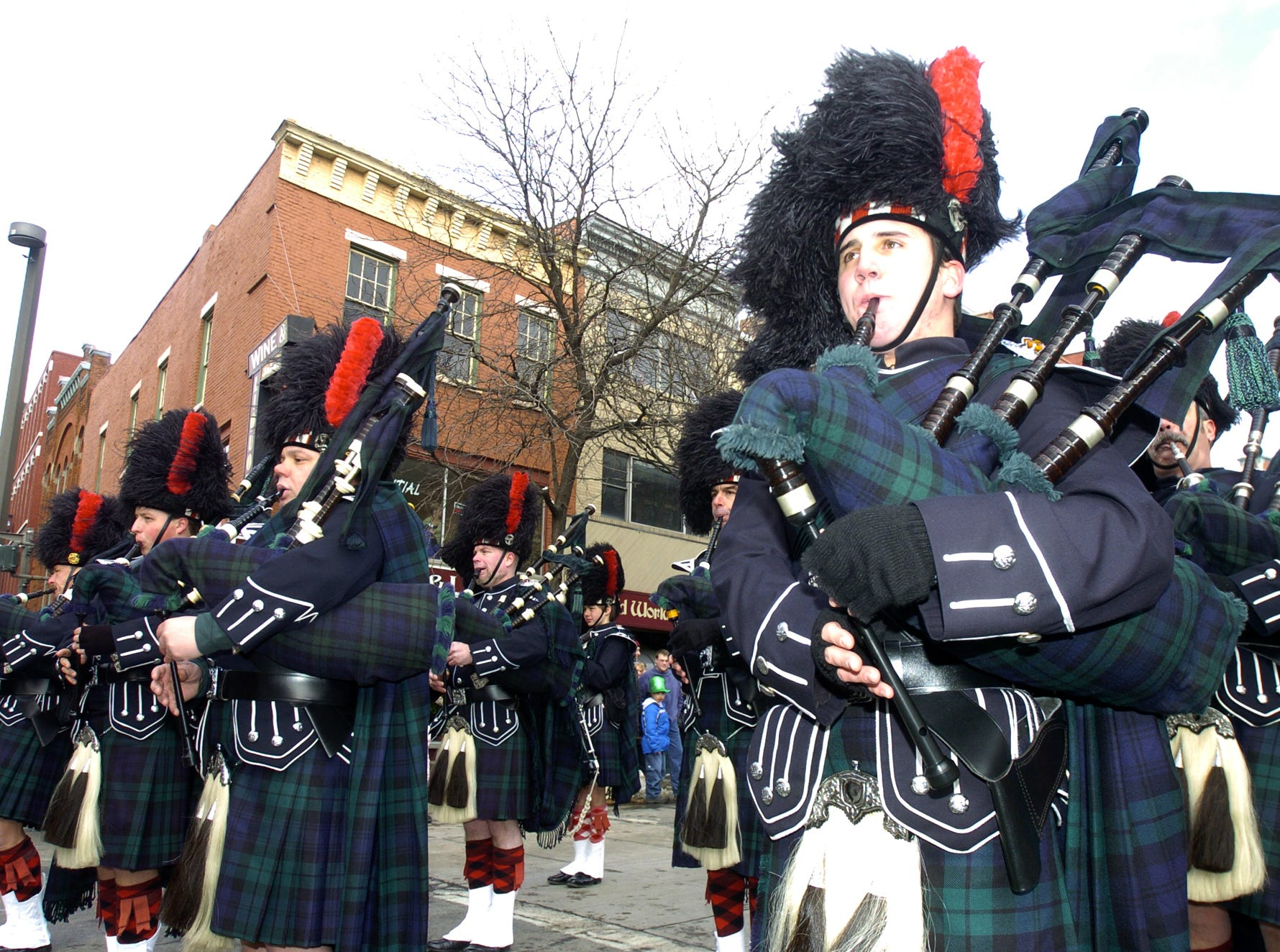 2006: Bagpipers from the Black Diamond Pipe Band, Scranton, Pa., entertained parade watchers on Saturday at the St. Patrick's Day Parade in Binghamton.