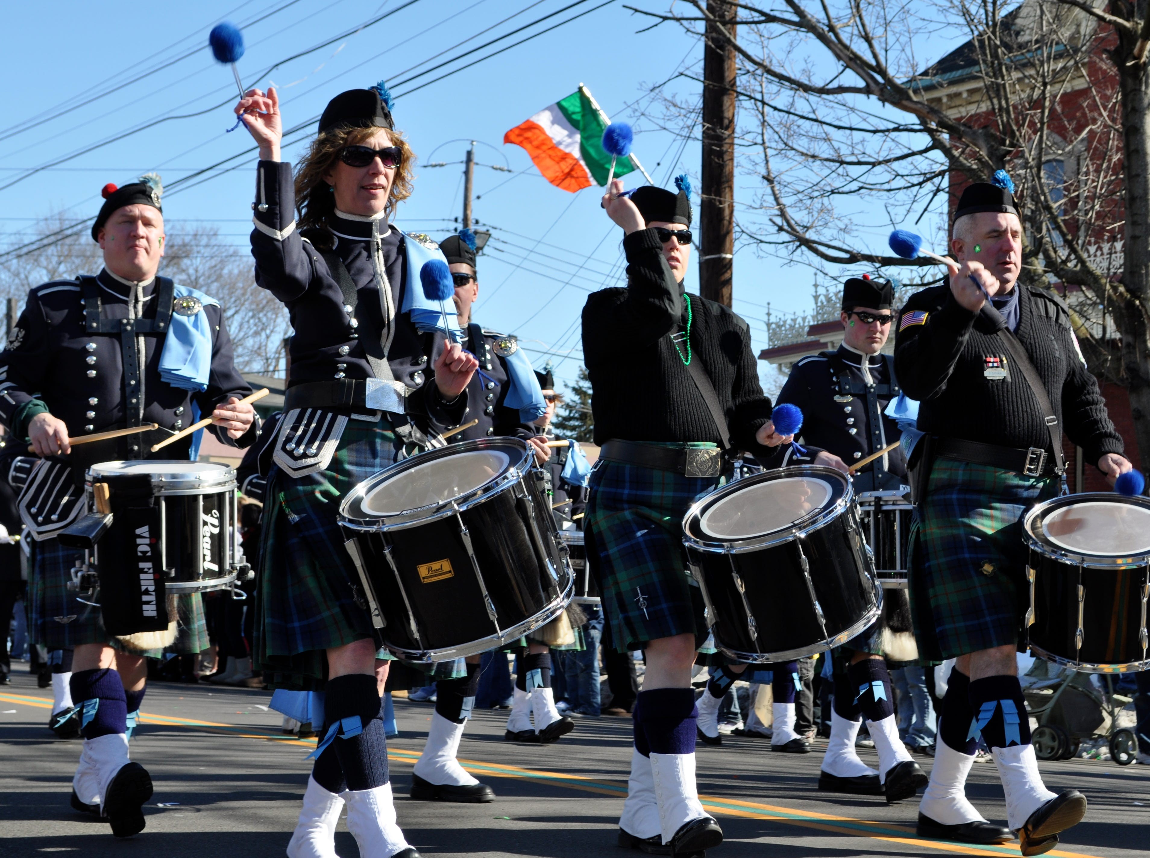 2010: The Edward P. Maloney Memorial Pipe band performs Saturday at the St. Patrick's Day parade in downtown Binghamton.