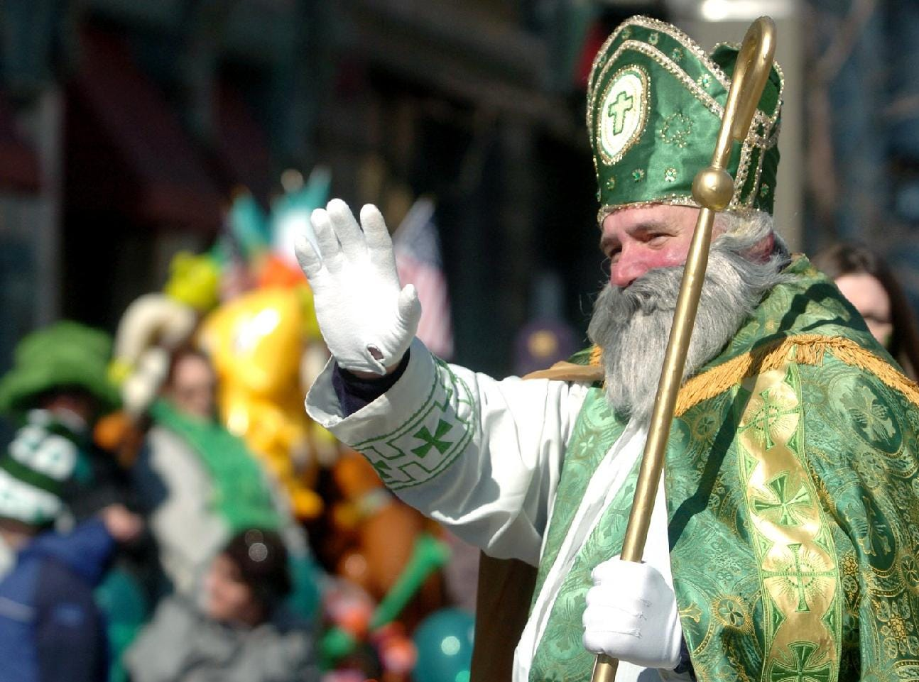 2005: St. Patrick made an appearance at the St. Patrick's Day parade Saturday in Binghamton.