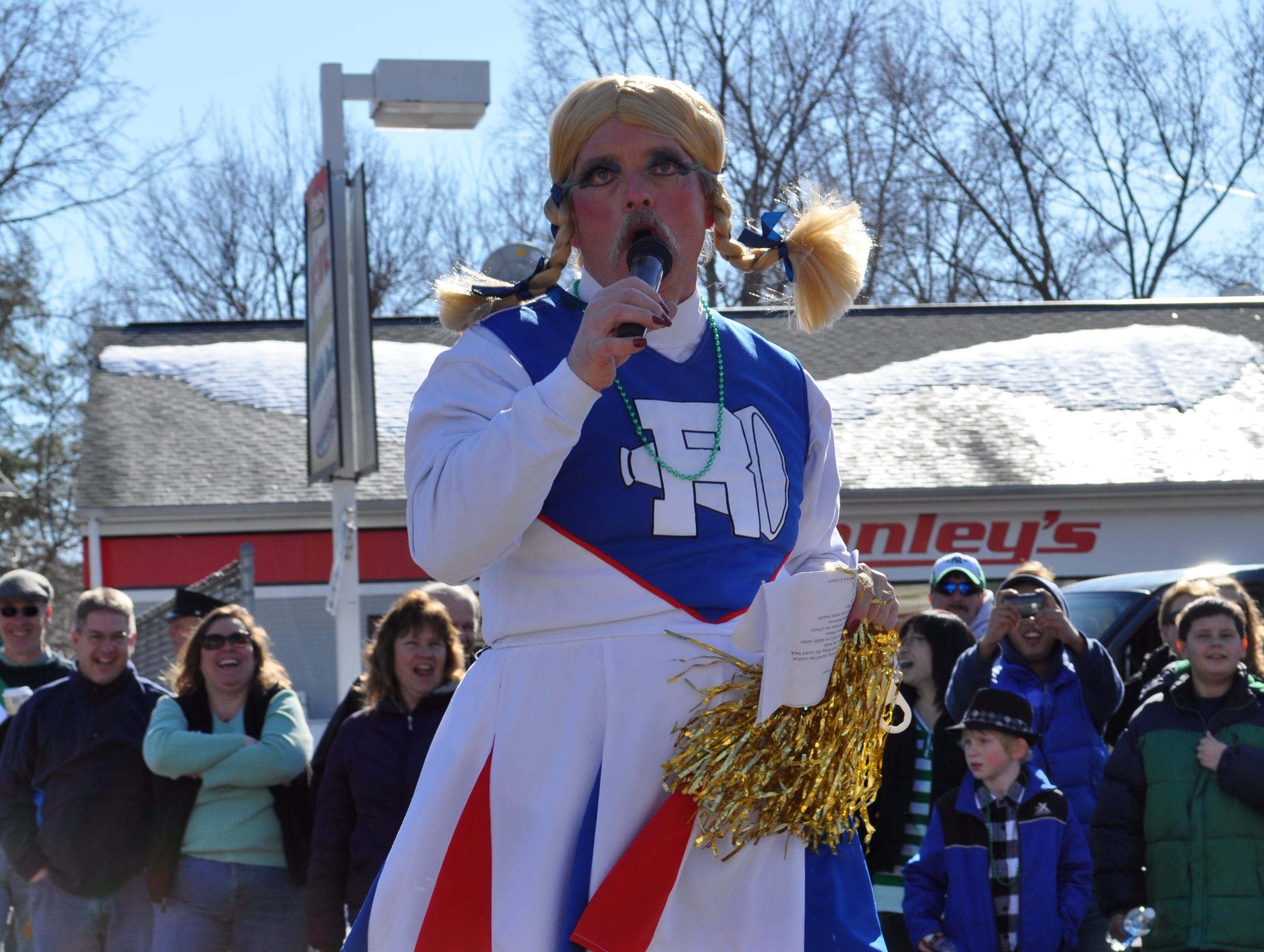 2010: WAAL personality performs Saturday at the St. Patrick's Day parade in downtown Binghamton.