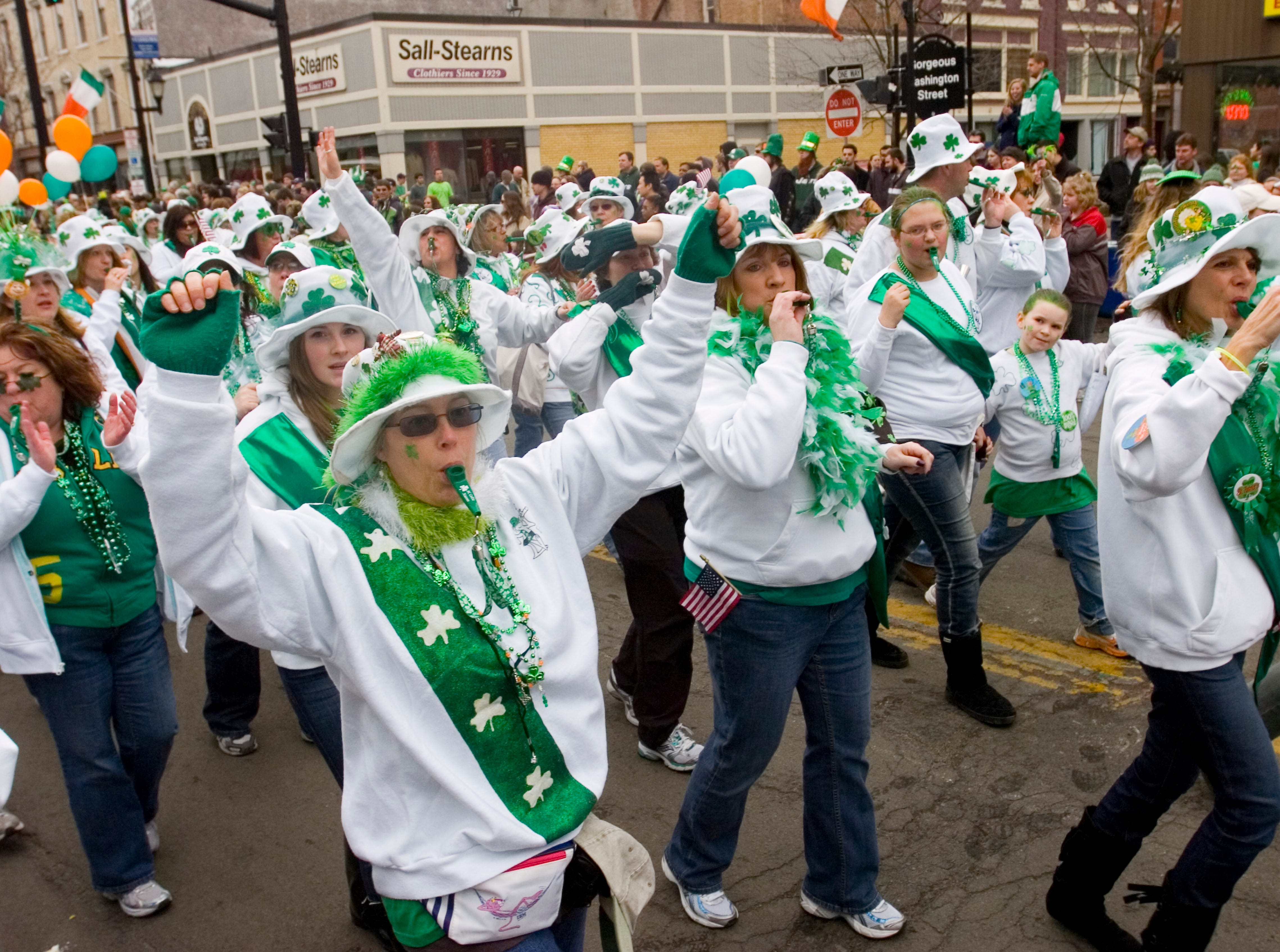 2011: The Broome County Celtic Kazoos participate in the 44th annual St. Patrick's Day parade is held in downtown Binghamton on Saturday.