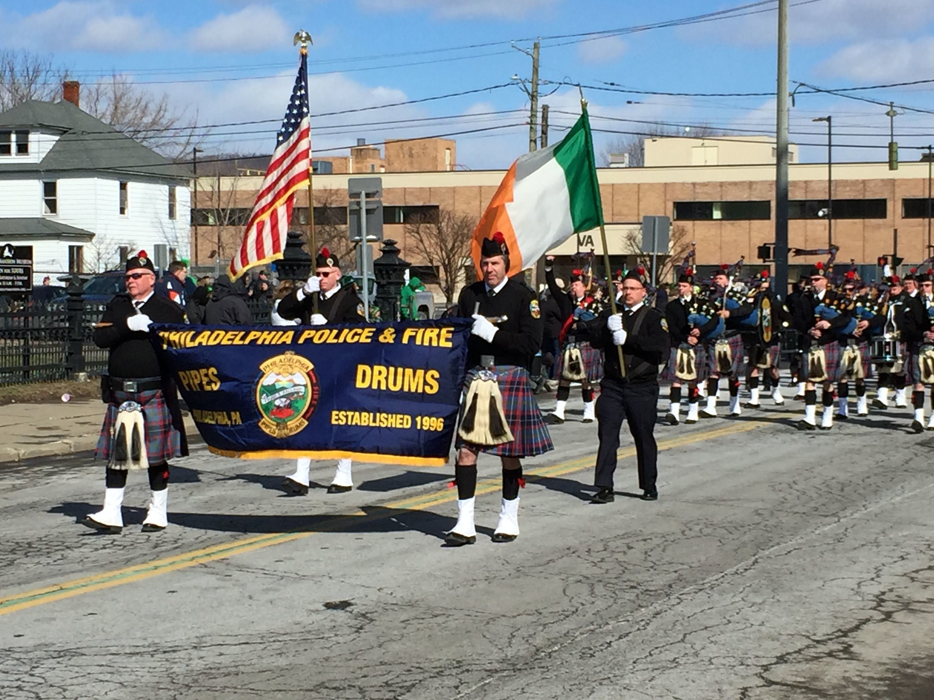 2017: A St. Patrick's Day parade wouldn't be complete without bagpipe bands. There were several bagpipe bands at the parade.