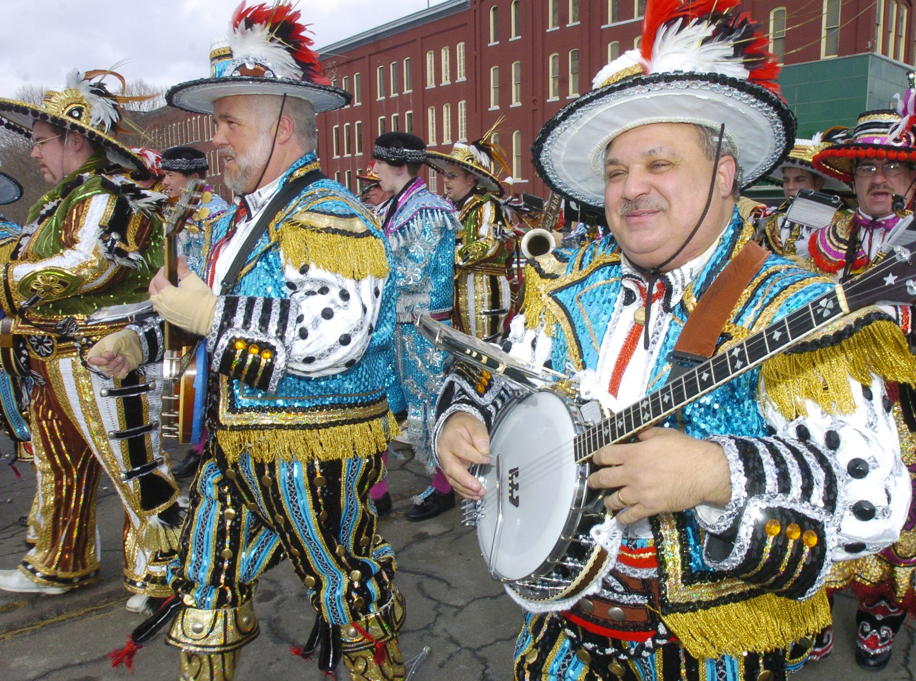 2006: Banjo players lead the group from the Avalon String Band from Philadelphia in Saturday's St. Patrick's Day parade in downtown Binghamton.