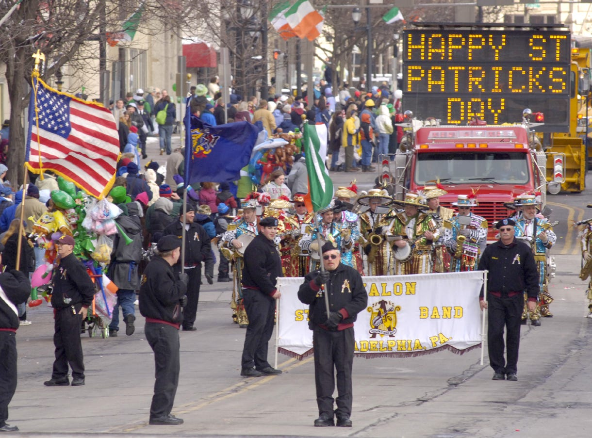 2006: Enthusiastic parade watchers lined the streets of downtown Binghamton on Saturday to watch the St. Patrick's Day Parade.