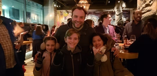 "Ten-year-old Eamonn Hubert, of Endicott, is on the road with the touring cast of ""School of Rock."""