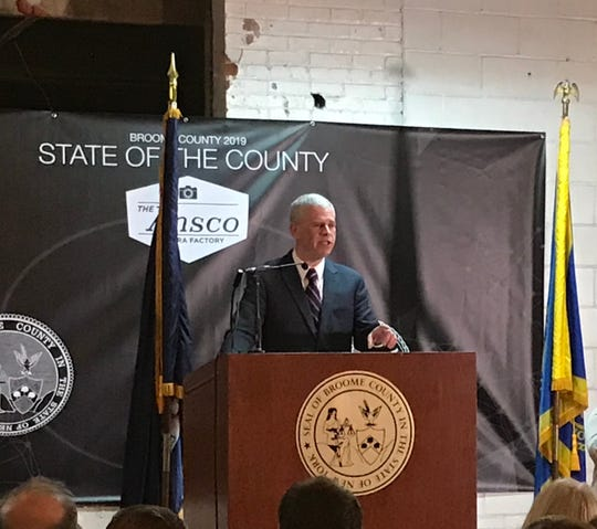 Broome County executive Jason Garnar delivers the 2019 State of the County Address.