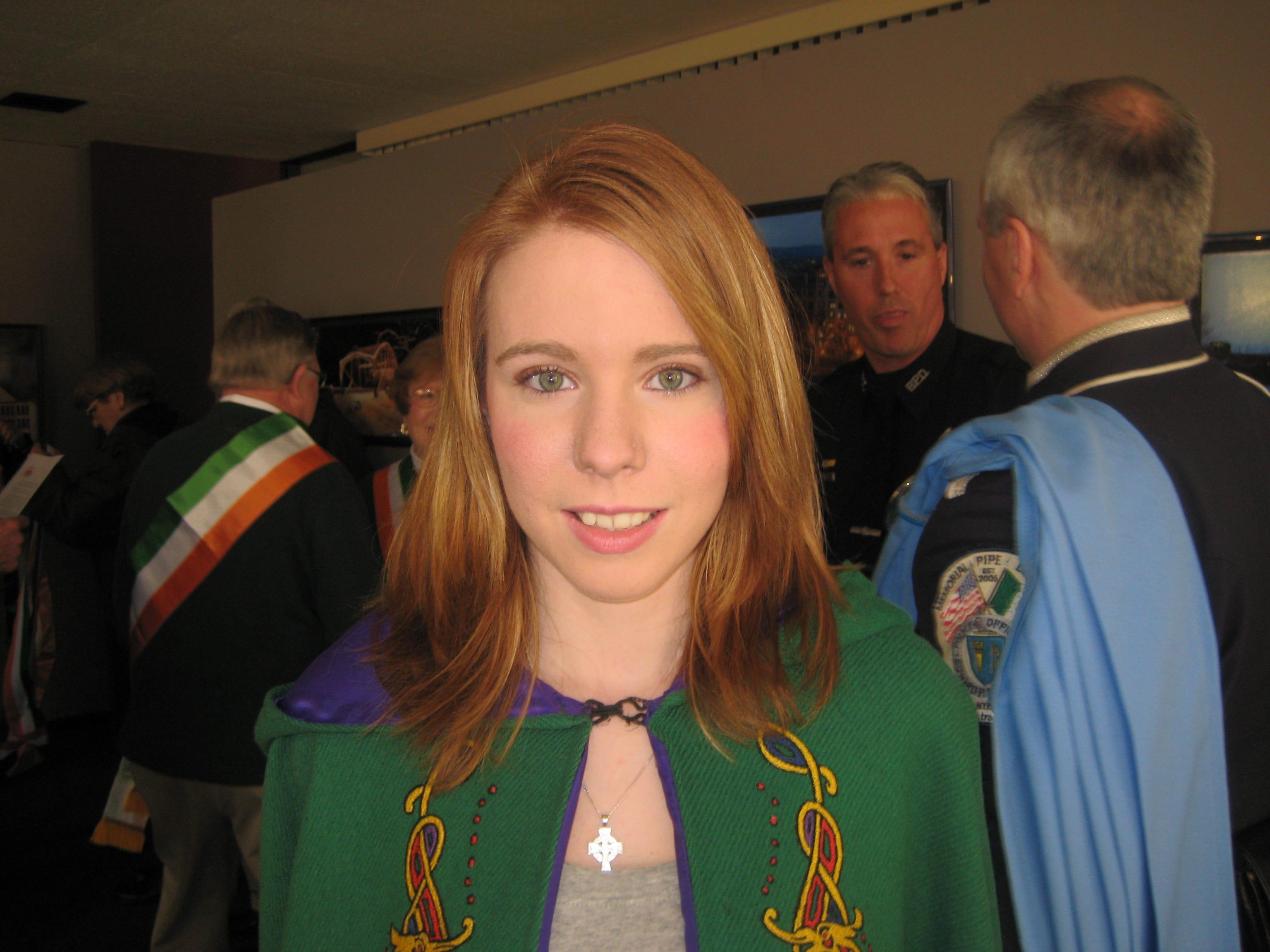 2010: Erin Katlin Mikulski, the Maid of Erin, in this Saturday's St. Patrick's Day Parade in Binghamton.