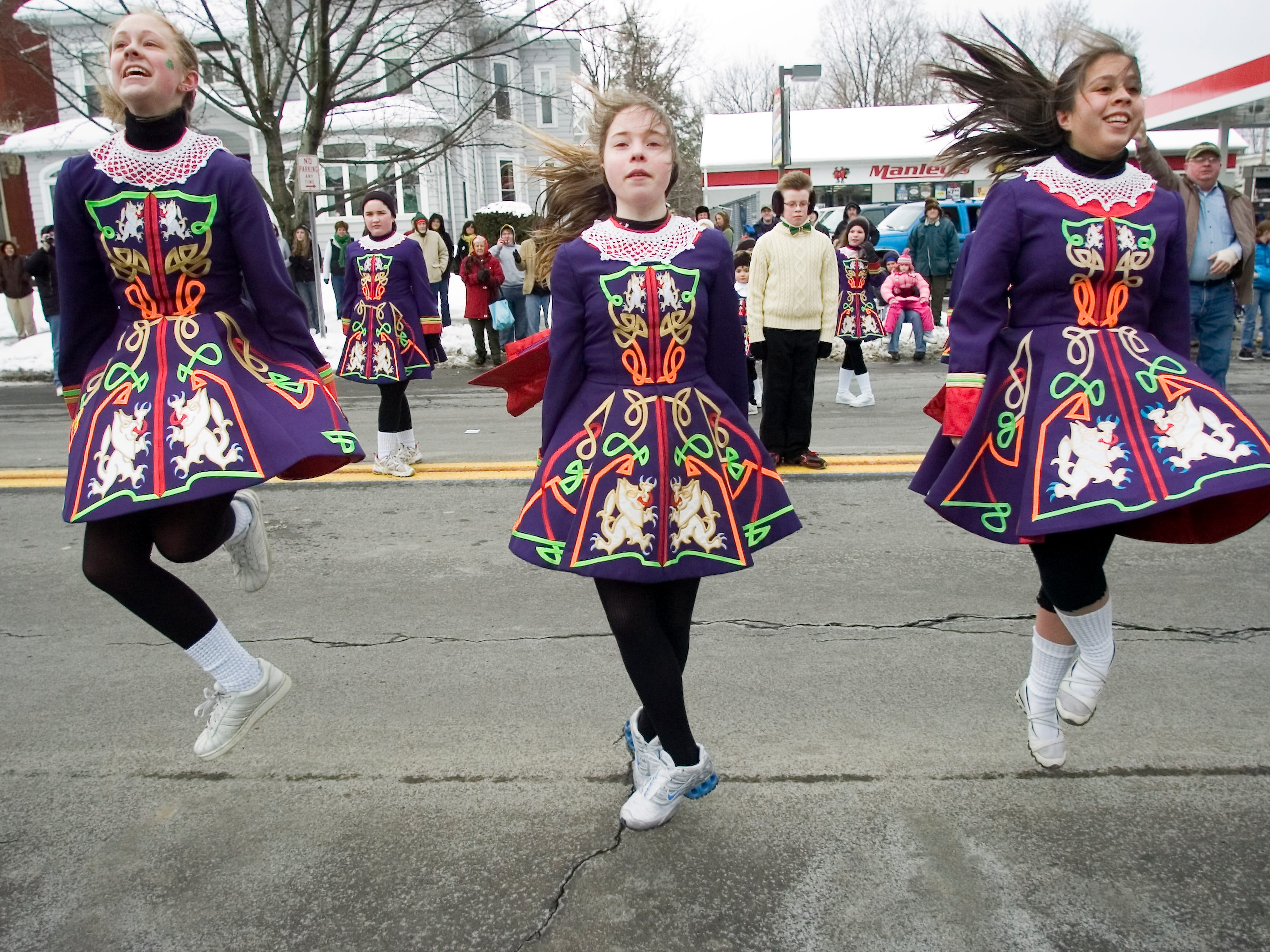2005: Drumcliffe School of Irish Dance pupils perform Saturday during the St. Patrick's Day Parade in Binghamton.
