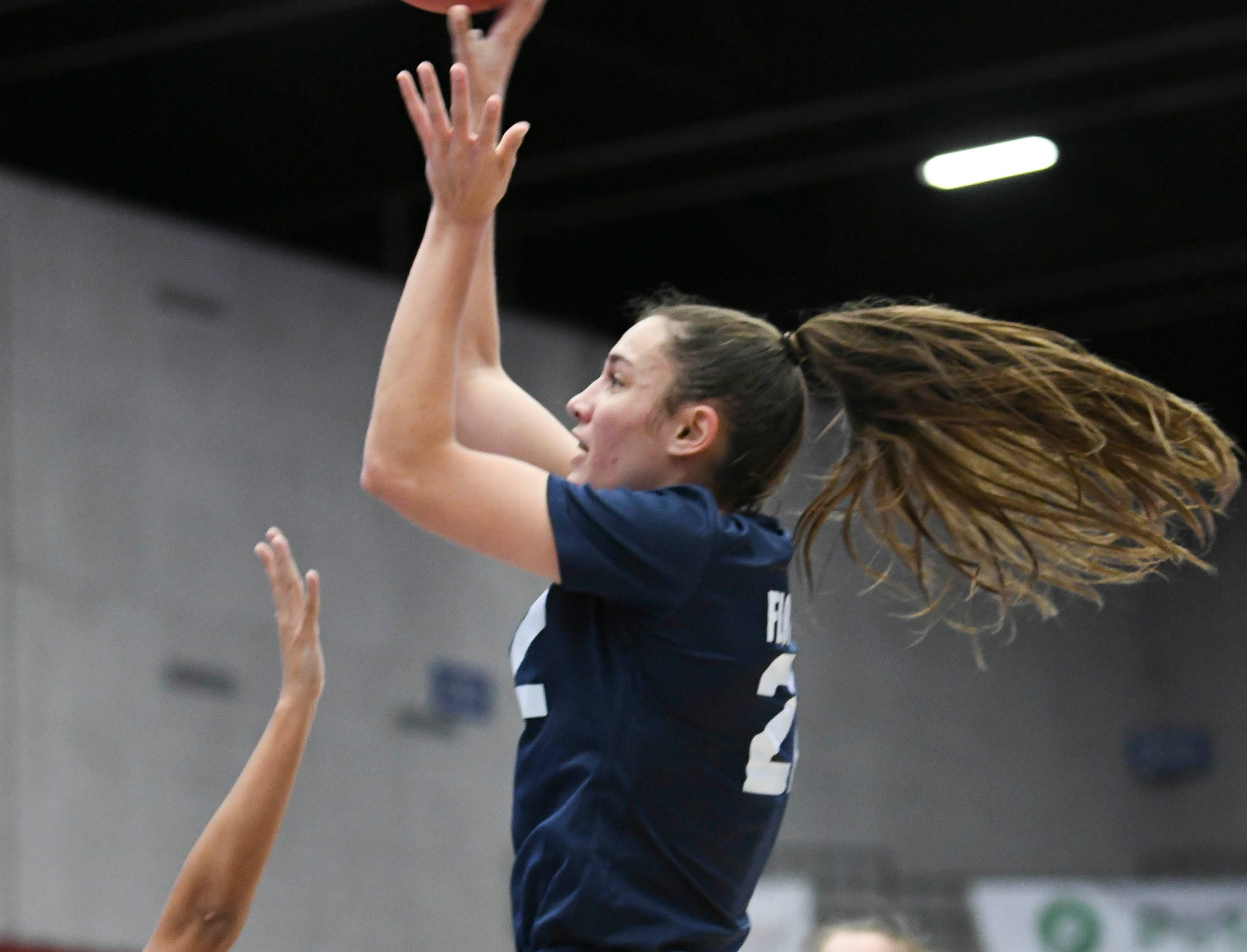 Aleah Sorrentino of Florida Prep takes a shot during Tuesday's Class 2A state championship game.