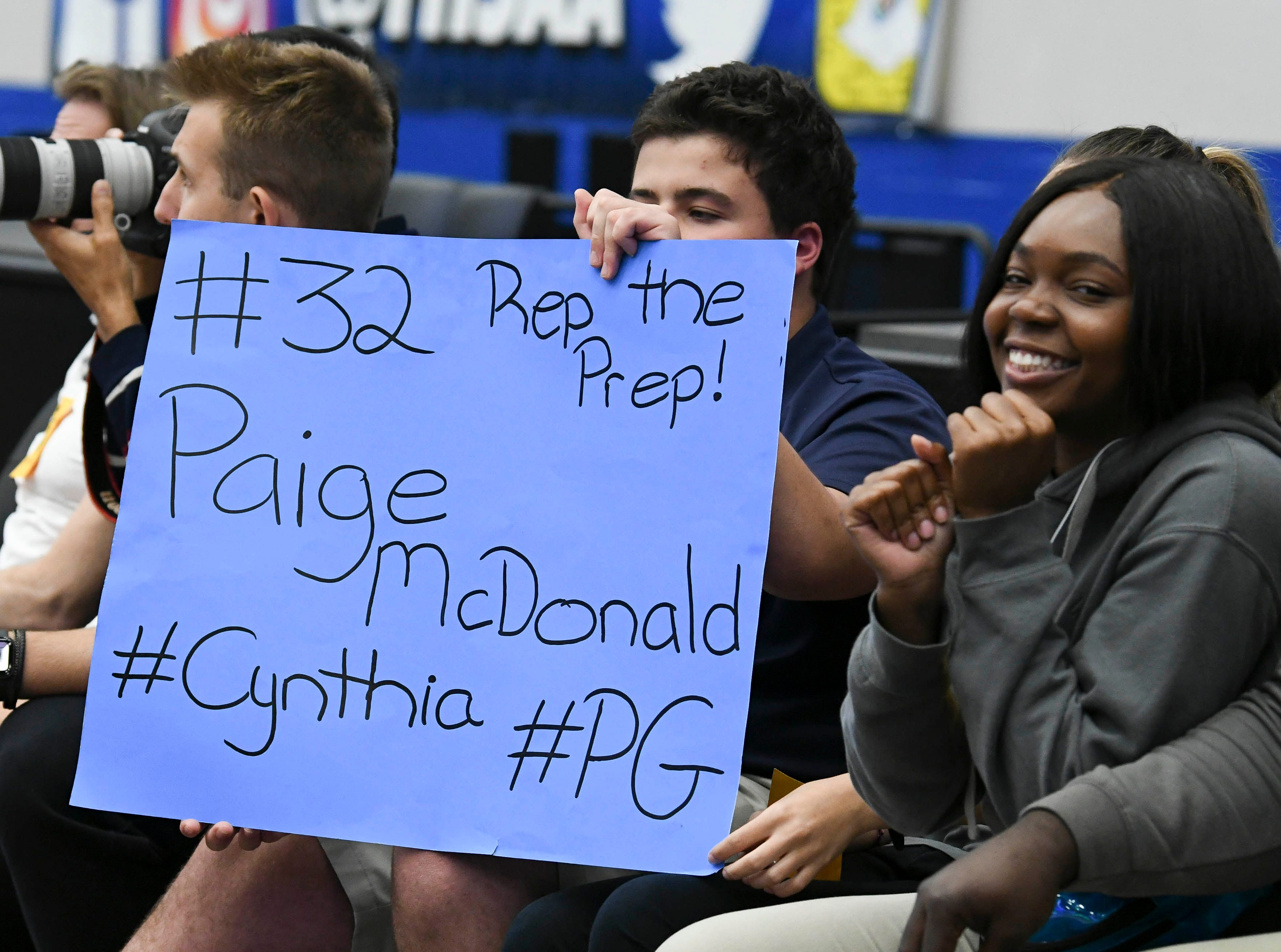 Florida Prep fans brought their signs of support to Tuesday's Class 2A state championship game.