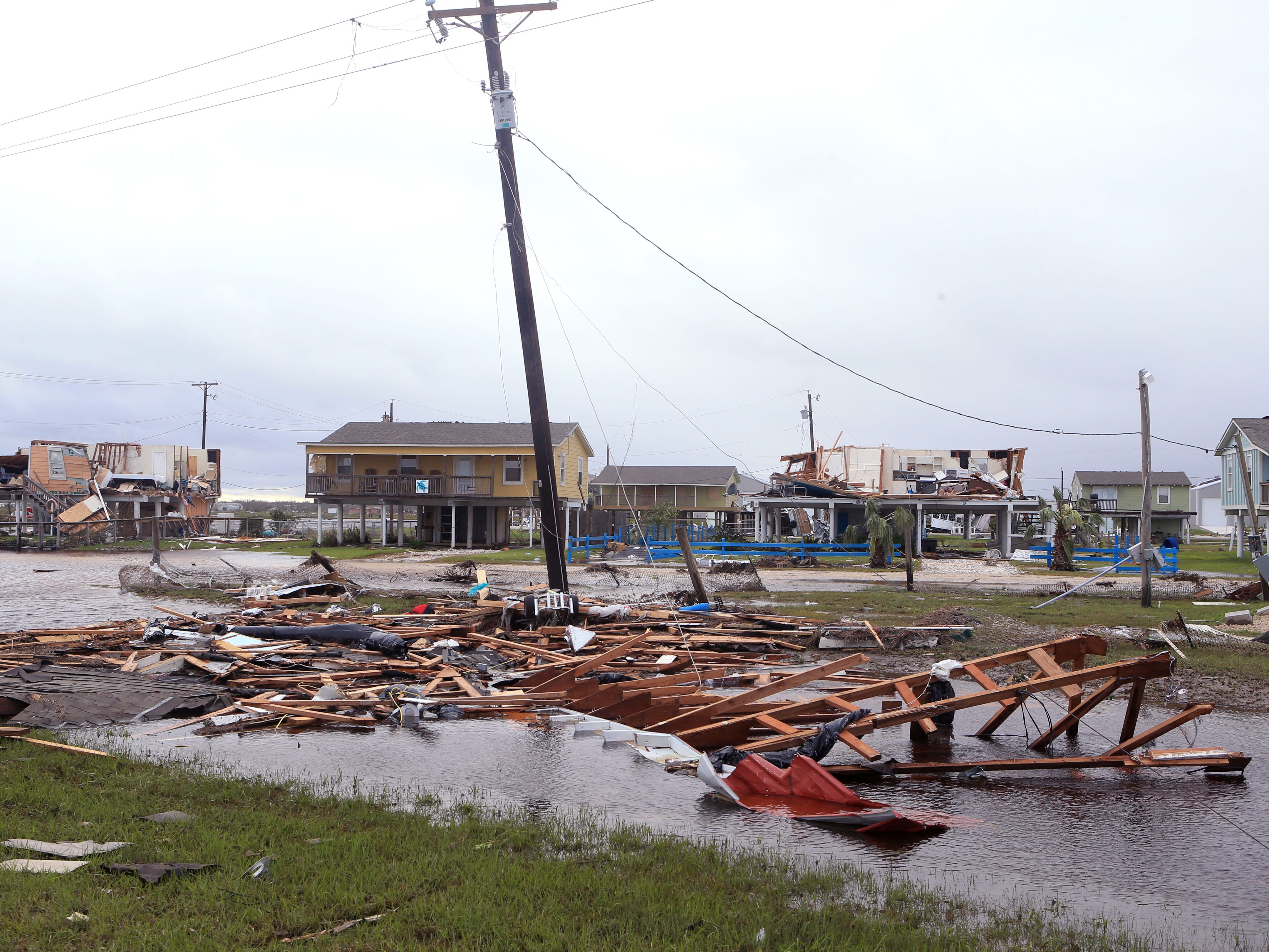 Homes and property in in Cove Harbor in Rockport, TX, sustained considerable damage from Hurricane Harvey. This was the scene of August 27, 2017. As the community continues to recover, there is still a lack of housing, which has a direct impact on the membership rolls of the churches.