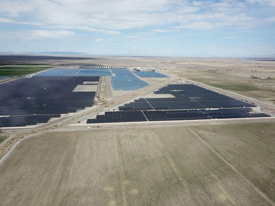 Enel Green Power North America is building the nation's largest solar farm near Midland. When finished it will look similar to its facility in Fallon, Nevada, (pictured) but will generate more power.