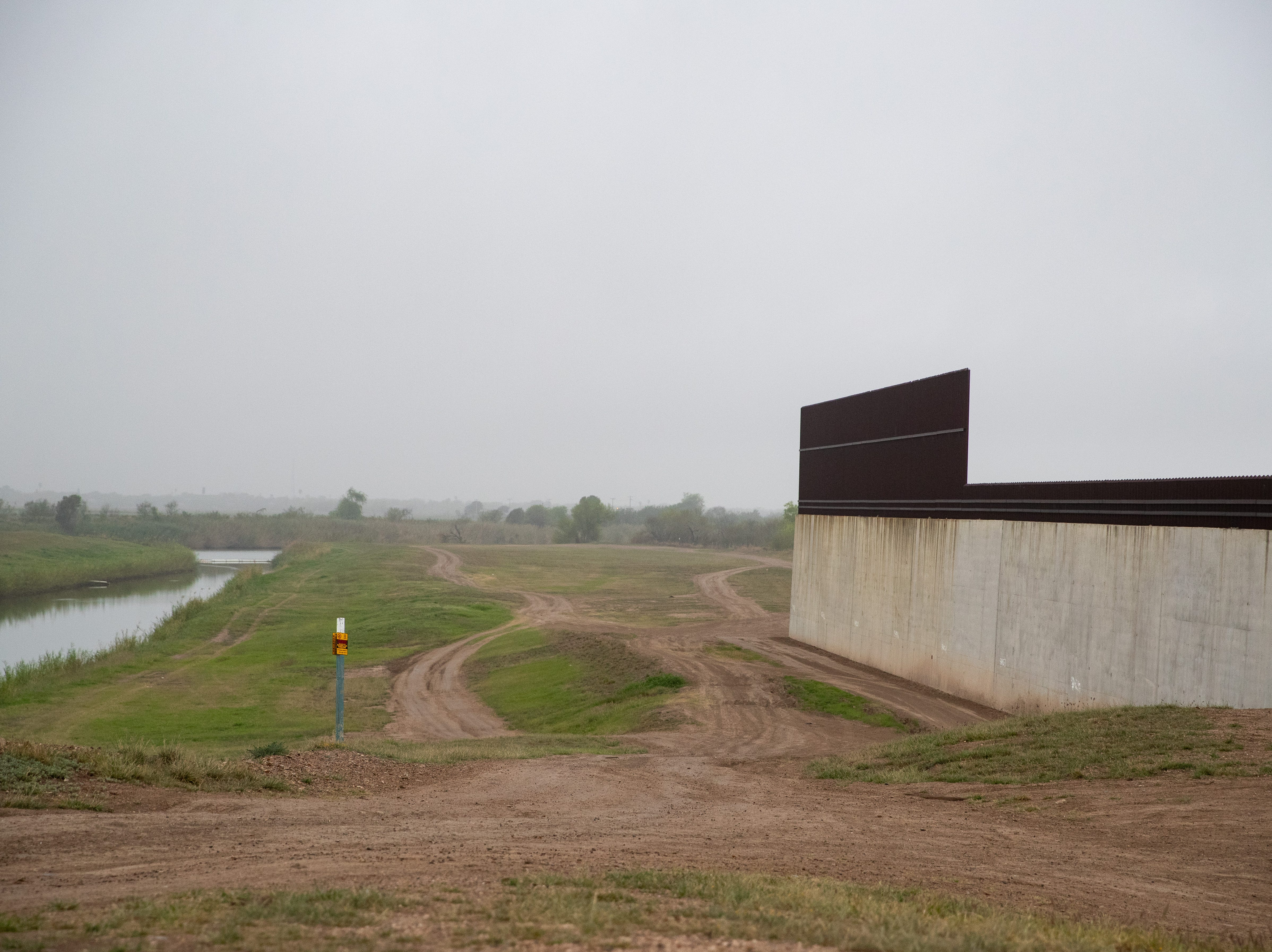 "A section of border wall and ""enforcement zone"" patrolled by Border Patrol in Penitas, TX on Tuesday, Feb. 28, 2019."