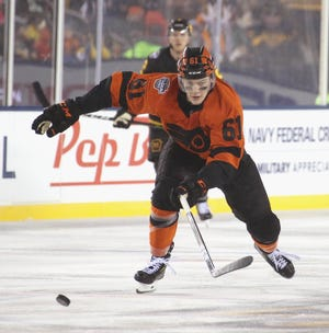 Phil Myers came to the Flyers as an undrafted training camp invitee. It appears he's on the verge of becoming a full-time NHLer.