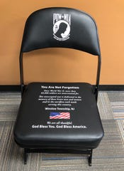 The Chair of Honor that will be unveiled at a Winslow Township ceremony on March 12 is a symbol of remembrance for POW and MIA service members.