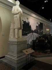 One of the Ross County Historical Society's most interesting pieces is a white marble statue that once stood in the U.S. Capitol, weighs 12,000 pounds and took over 12 hours to put into place.