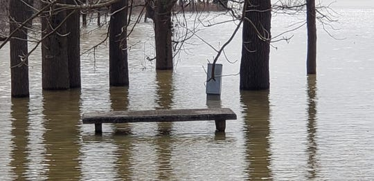 Rising lake levels are causing flooding at Land Between the Lakes National Recreation Area, forcing the closure of some campgrounds, including Piney Campground shown here on Feb. 27, 2019, as well as impacting trails.