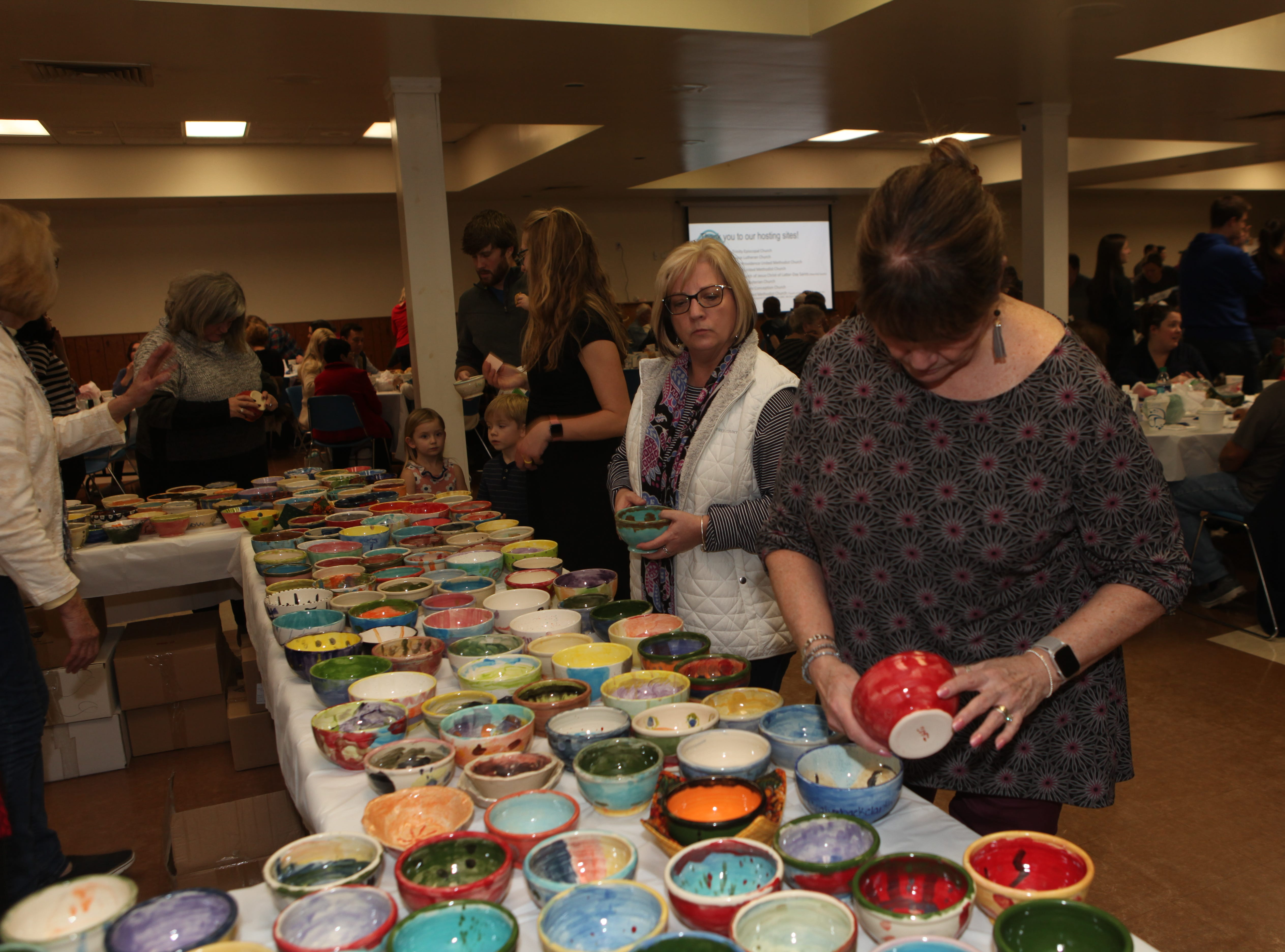 Immaculate Conception Church hosted about 450 of the 1,700 supporters of this year's Empty Bowls.