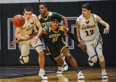 J.P. Stevens at Old Bridge boys basketball on Jan. 8, 2019.