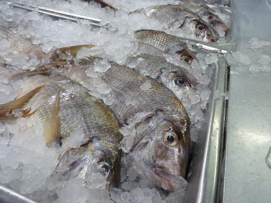 Fresh fish and scenes from Archar Seafood in the Somerset Section of Franklin Township.