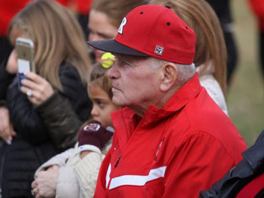 Former Rutgers baseball coach Fred Hill in attendance for the groundbreaking ceremony of the Fred Hill Training Complex for baseball and softball on Oct. 24, 2015, on the Livingston Campus in Piscataway.