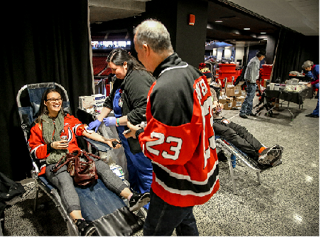 The New Jersey Devils and healthcare partner RWJBarnabas Health will host their third annual blood drive in coordination with the American Red Cross. Shooting for a goal of collecting 500 units, the blood drive will take place on Sunday, March 10 from 8:30 a.m. to 2:30 p.m., at Prudential Center in Newark.