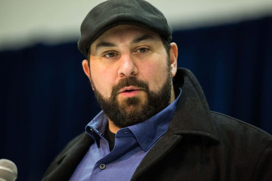 Lions coach Matt Patricia speaks to media during the NFL combine on Wednesday, Feb. 27, 2019, at the Indianapolis Convention Center.