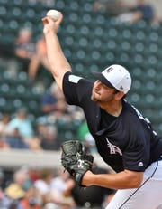 Tigers pitcher Michael Fulmer works in the first inning Wednesday against the Yankees in Lakeland, Fla.