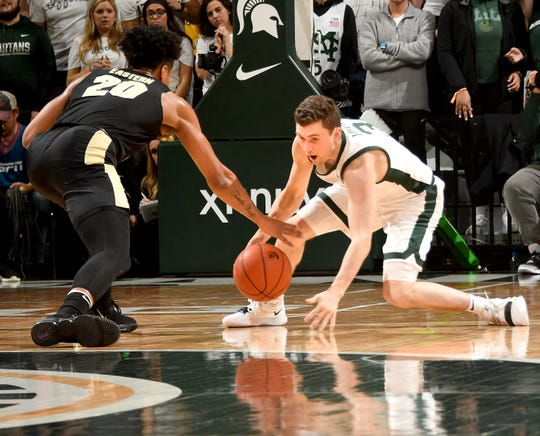 Freshman point guard Foster Loyer is only averaging 5.7 minutes per game. He did not play Sunday against Michigan.