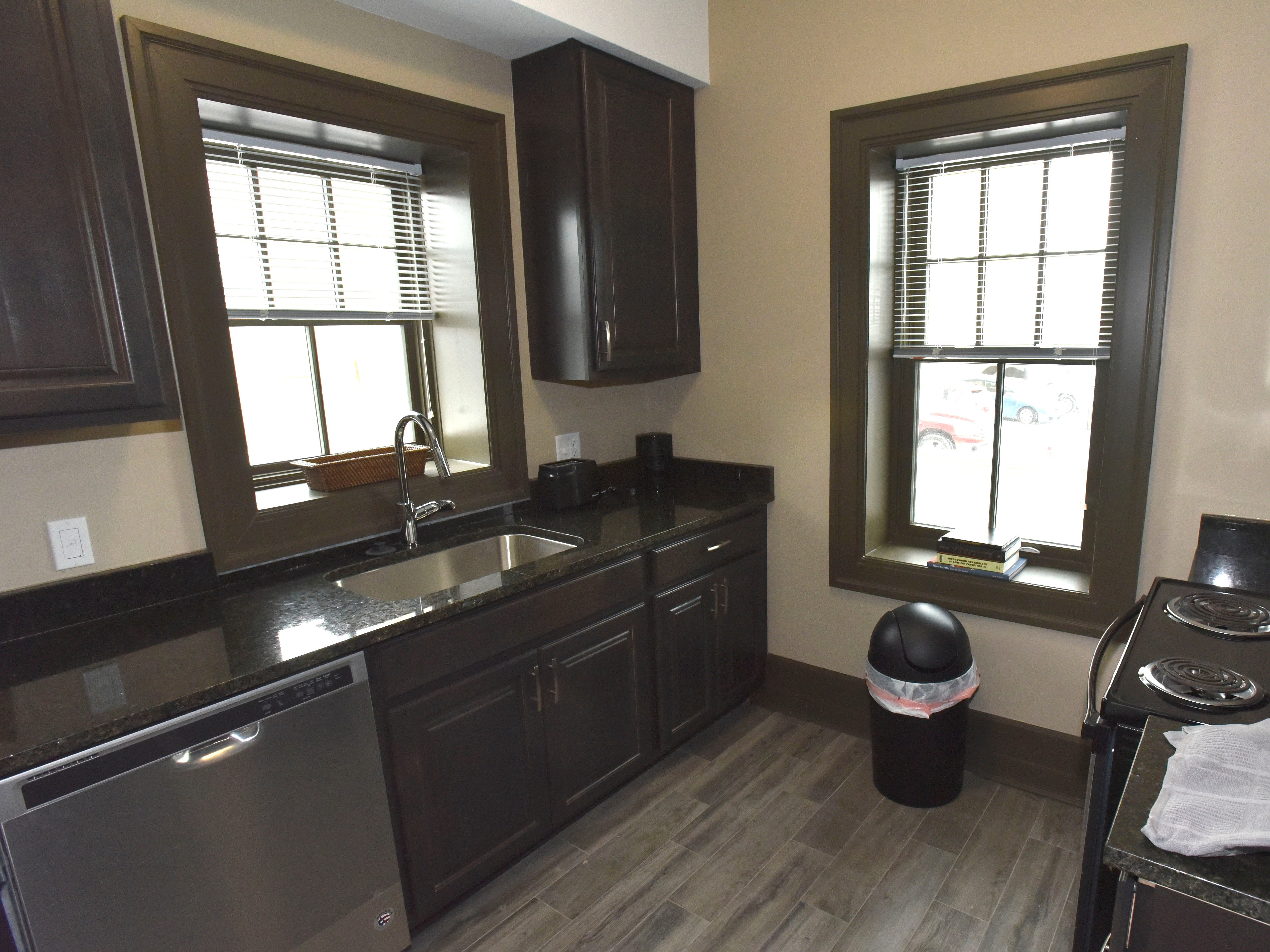 This is a finished kitchen.