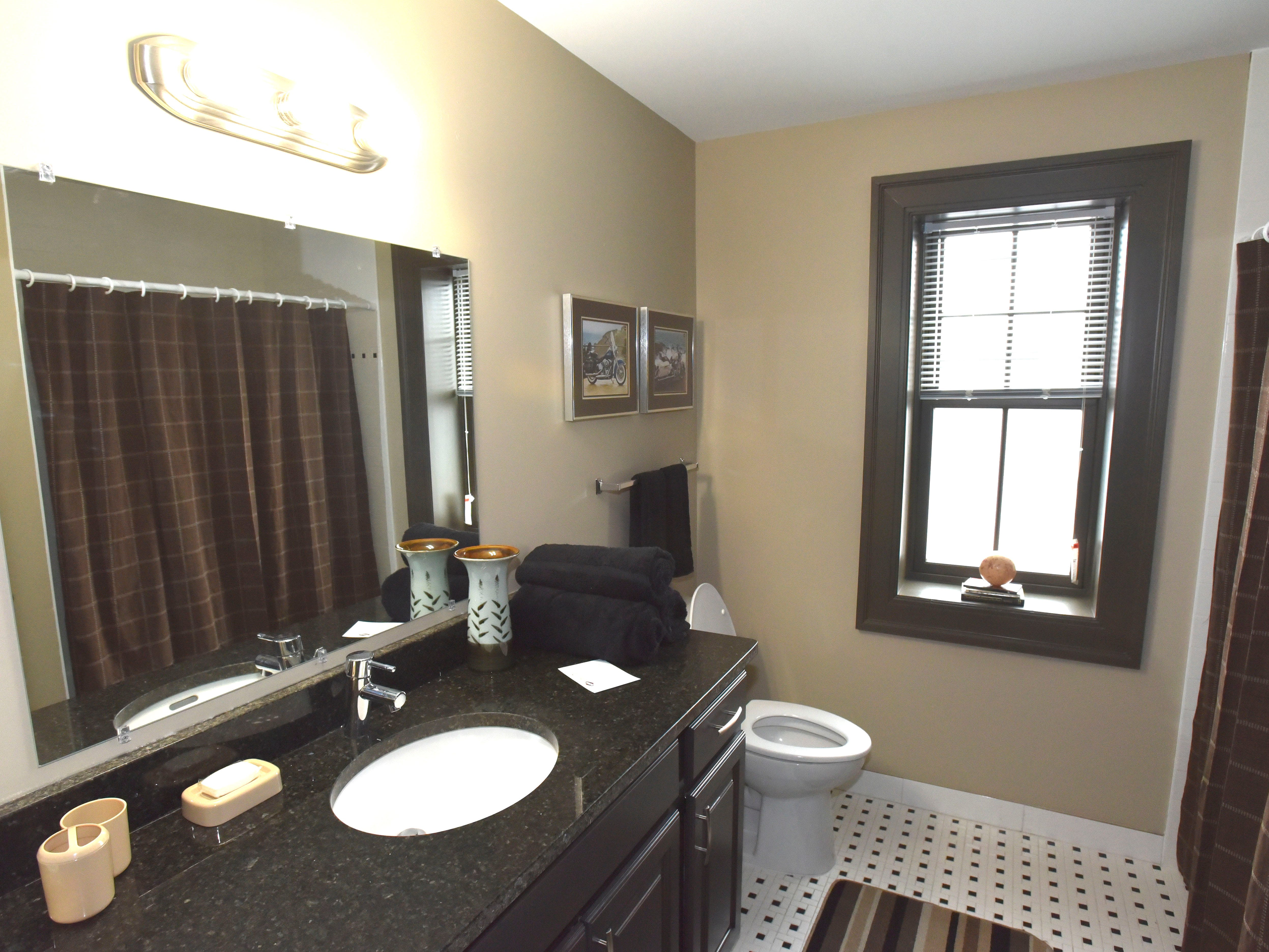 This is a finished bathroom.