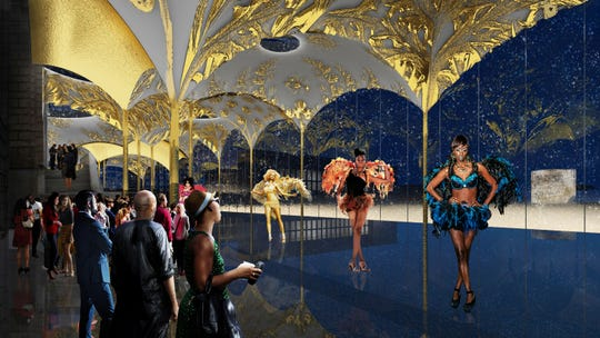 Agence Ter's proposal imagines The Canopy attached to the back of the DIA to make a more inviting entrance.