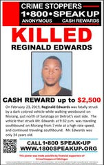 Reginald Edwards, 34, was fatally struck on Feb. 23.