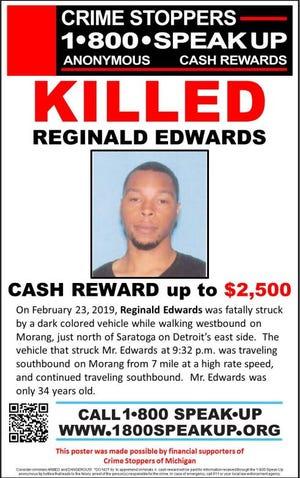 Reginald Edwards, 34, was fatally struck on Feb. 23.