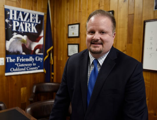 Edward Klobucher, city manager of Hazel Park, talks in his office about how Proposal A has affected property taxes in Hazel Park.