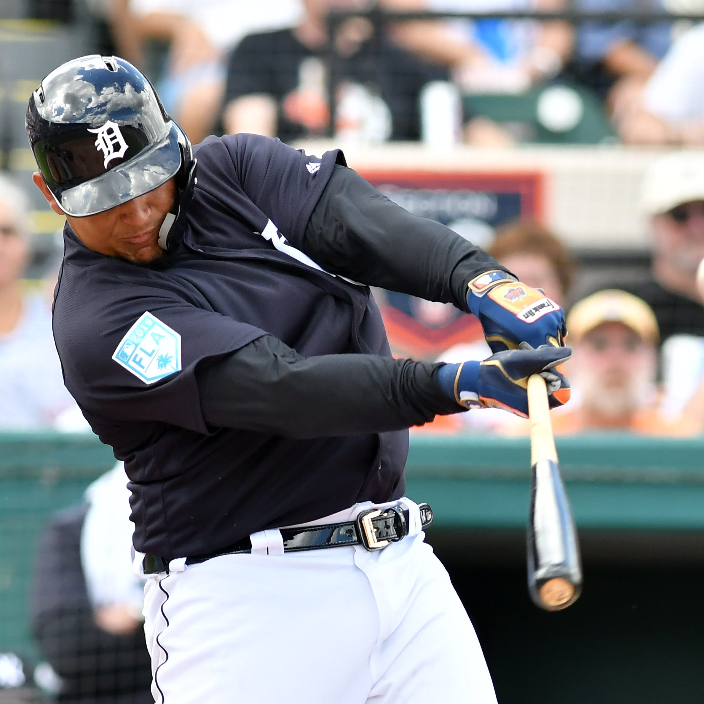 Hot start: Tigers' Miguel Cabrera clouts first home run of the spring