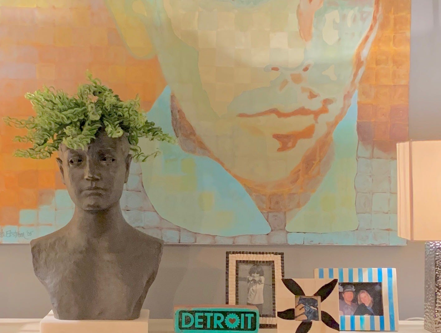 Tamela Ekstrom Derian of Haven Real Estate & Design in Ferndale has been a fan of head planters for years. She has many in a range of sizes and materials.