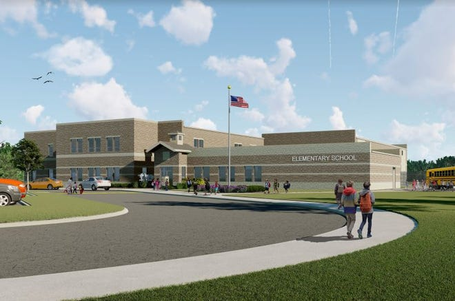 Fremont City Schools released a rendering of what its four new elementary school buildings may look like upon completion in 2020. The FCS school board approved the project costs for all four elementary building sites Tuesday.