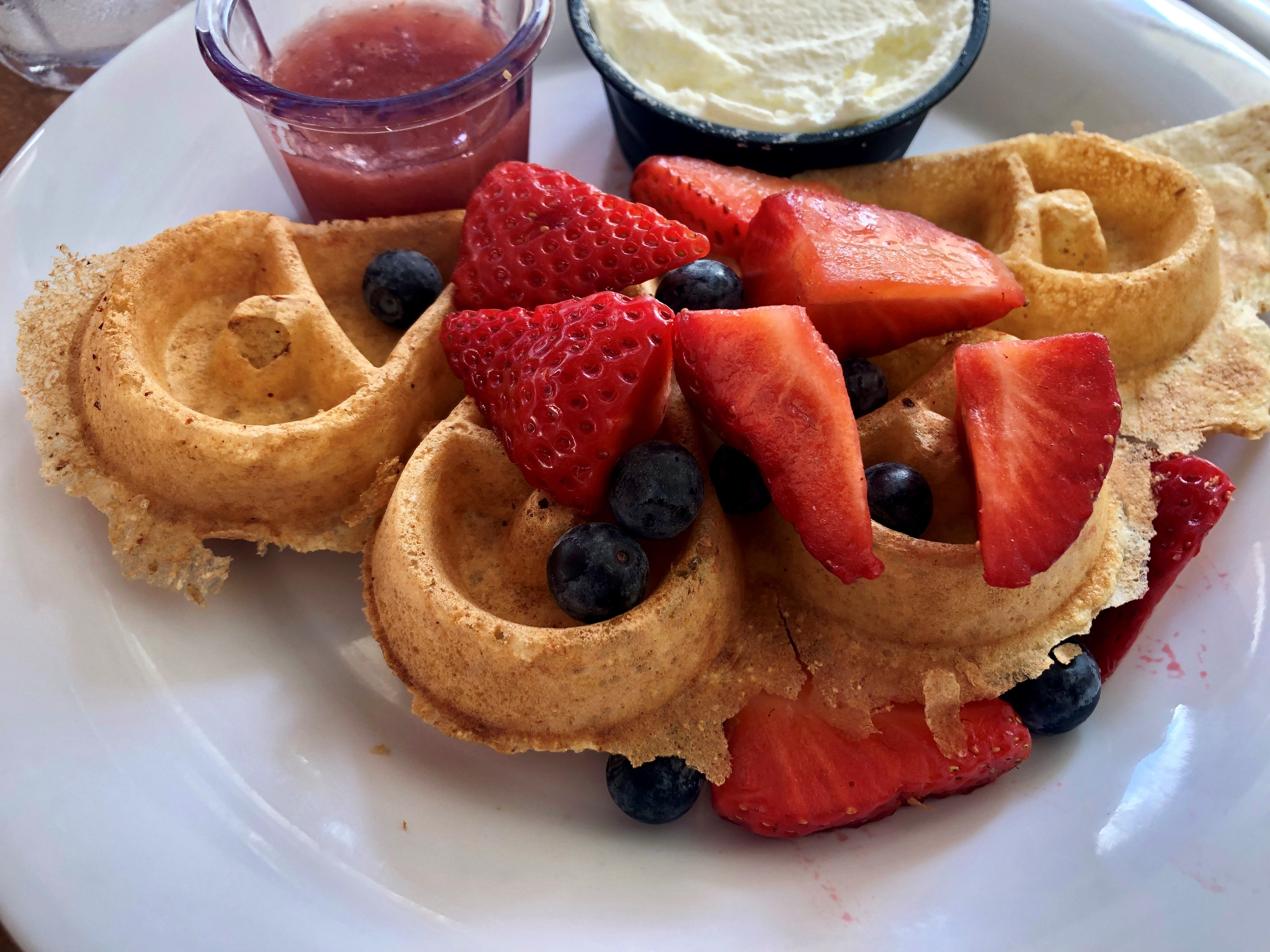 Skillets' Belgian waffle is made from a house batter that ferments over the course of three days.