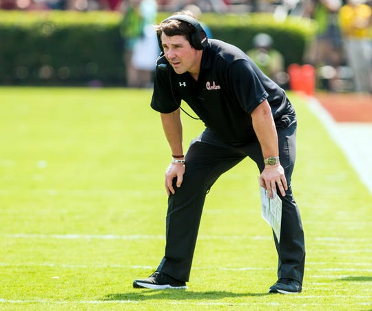 South Carolina football coach Will Muschamp will use spring practice to help determine the backup quarterback behind Jake Bentley