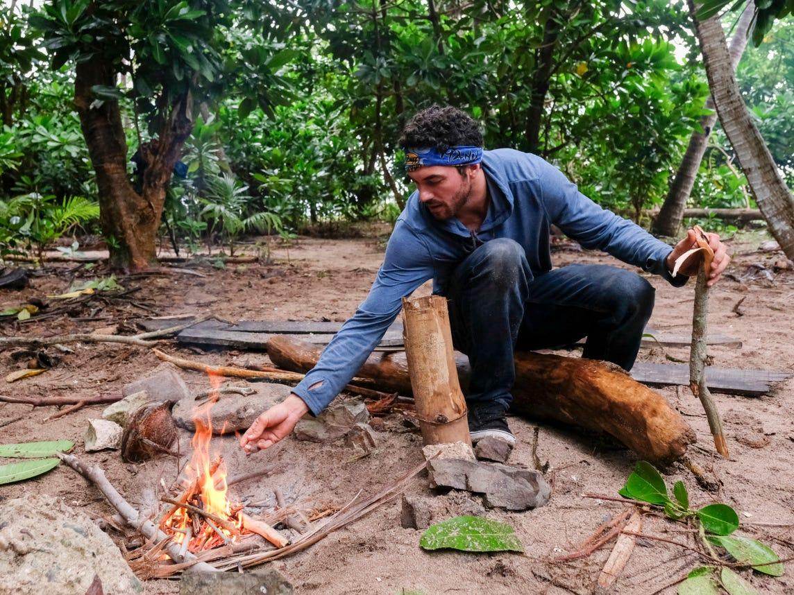 "Chris Underwood of Greenville on Episode 2 of ""Survivor: Edge of Extinction."""