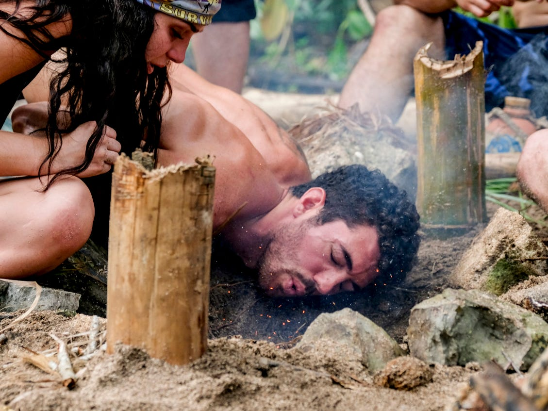 """Greenville resident Chris Underwood competes on the second episode of """"Survivor: Edge of Extinction."""""""