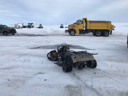 A Teton County maintenance shop sustained damage and two vehicle were destroyed in a fire Tuesday afternoon by the Choteau Airport.