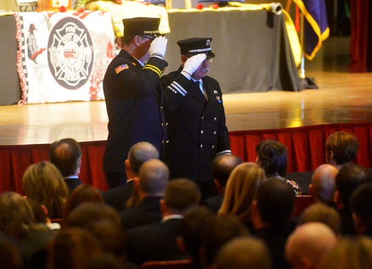 A memorial service for Great Falls firefighter Jason Baker was held on Tuesday afternoon at the Mansfield Theater.  Baker passed away on February 20th at the age of 45 after a two-year battle with lung cancer.