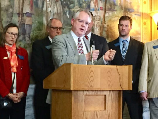 Rep. Bill Mercer, R-Billings, speaks during this past the Legislative session. Gov. Steve Bullock issued an executive order Friday to bar most state agencies from entering into confidential employee settlements after he vetoed a bill sponsored by Mercer that sought to do the same thing.