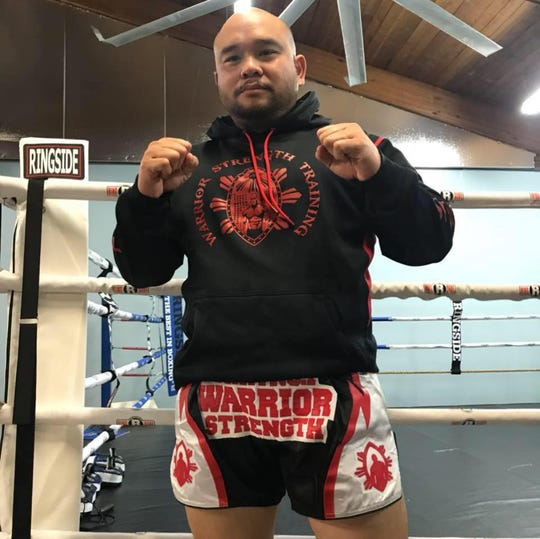 Belton Lubas, a son of Guam now living in Seattle, is a lifetime martial artist offering free lessons today. He's only visiting Guam for two days.