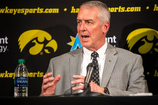 Gary Barta met with Iowa media via a Zoom call Thursday.