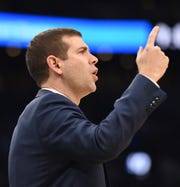 Jan 4, 2019; Boston, MA, USA; Boston Celtics head coach Brad Stevens during the first half against the Dallas Mavericks at TD Garden. Mandatory Credit: Bob DeChiara-USA TODAY Sports