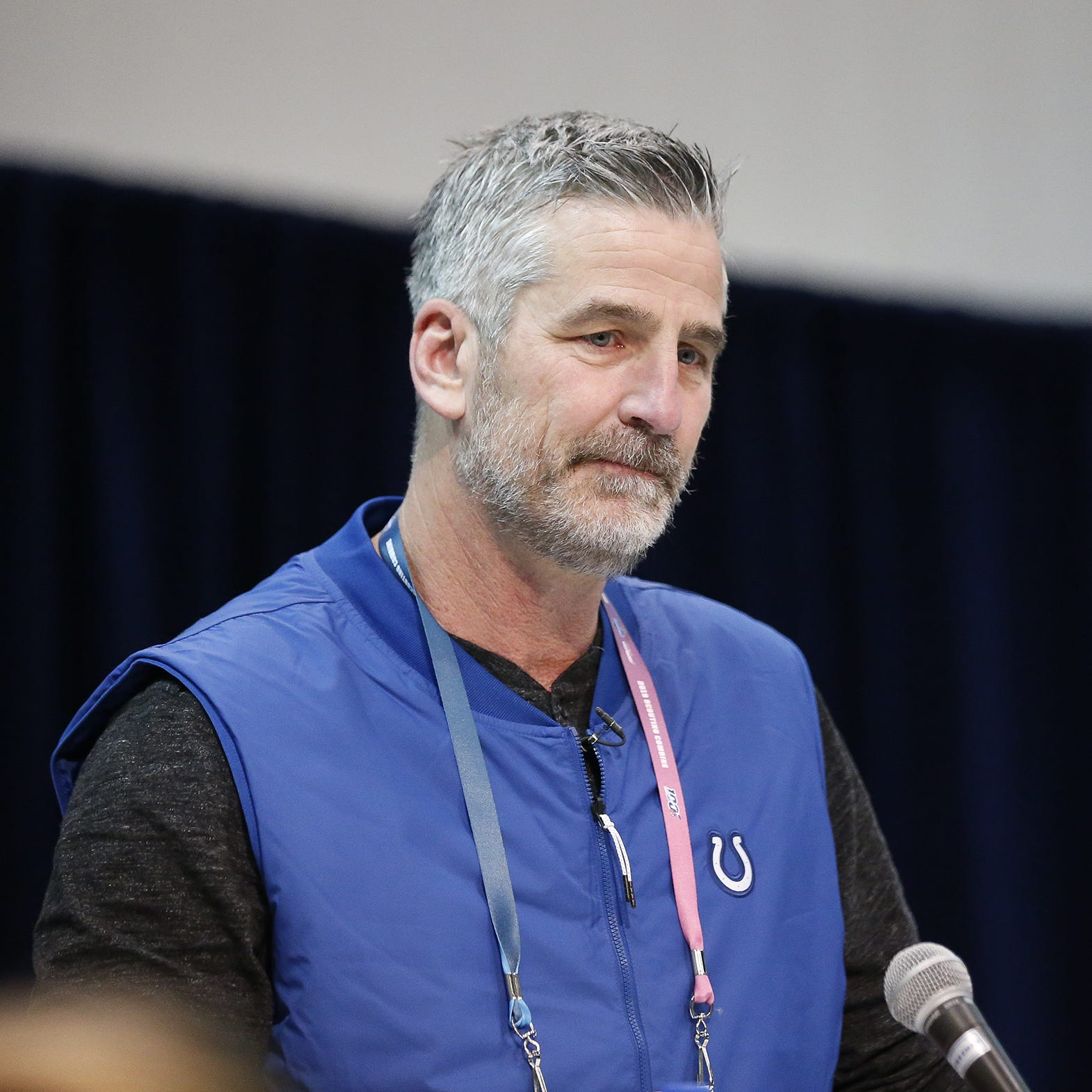 Colts Frank Reich on Andrew Luck's injury, Chad Kelly and Justin Houston